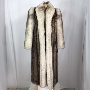 Silver fox fur size 10